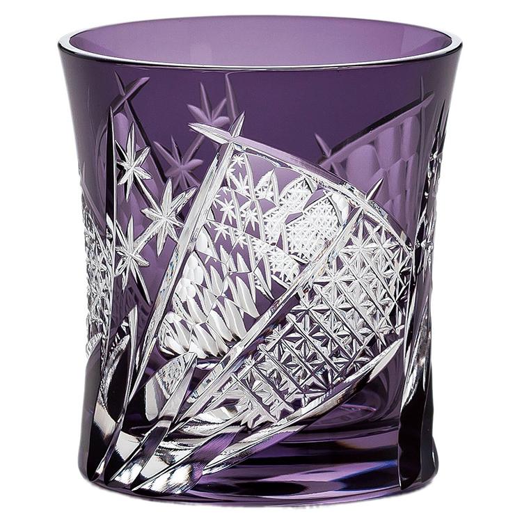 東洋佐々木ガラス グラス 八千代切子 扇柄 パープル 280ml 日本製 LS19590SP-C682