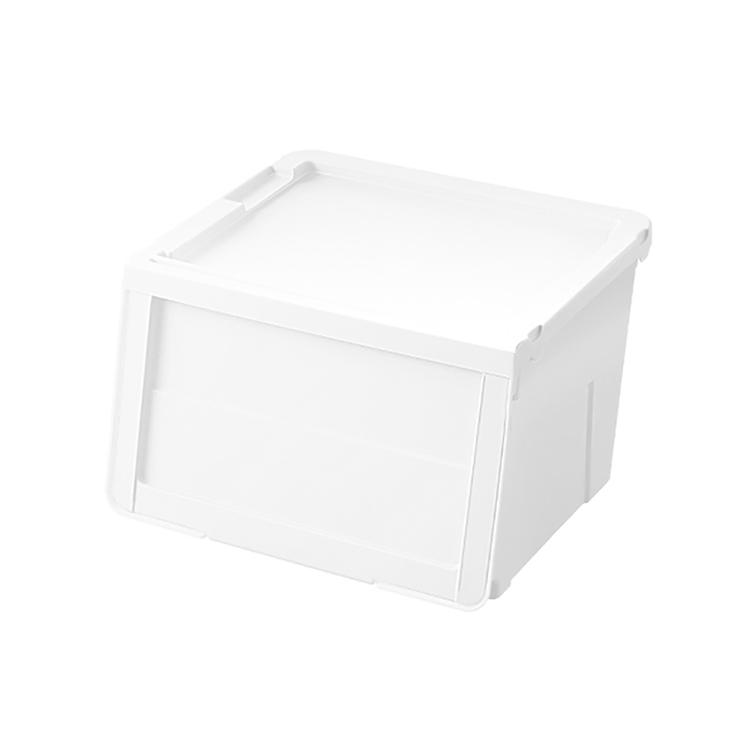 収納 ケース プラスチック クローゼット リビング 人気 天馬 フラップ式収納 カバコ モノ ホワイト M