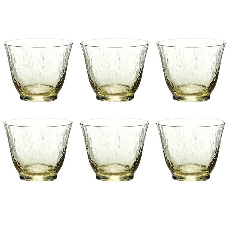 ガラス 販売実績No.1 おトク 宅飲み カップ コップ タンブラー 父の日 母の日 ギフト 6個入 琥珀 日本製 165ml 東洋佐々木ガラス 高瀬川 冷茶グラス 18719DGY