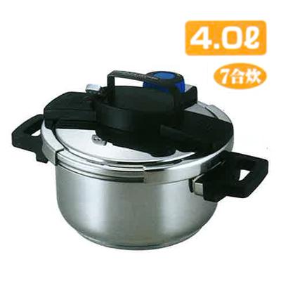 【送料無料】パール金属 H-5388 3層構造 ワンタッチレバー圧力鍋4.0リットル