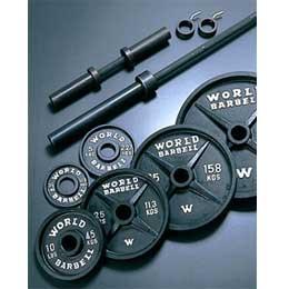 マーシャルワールド オリンピックバーベル・ダンベル232ポンドセット(105kg)