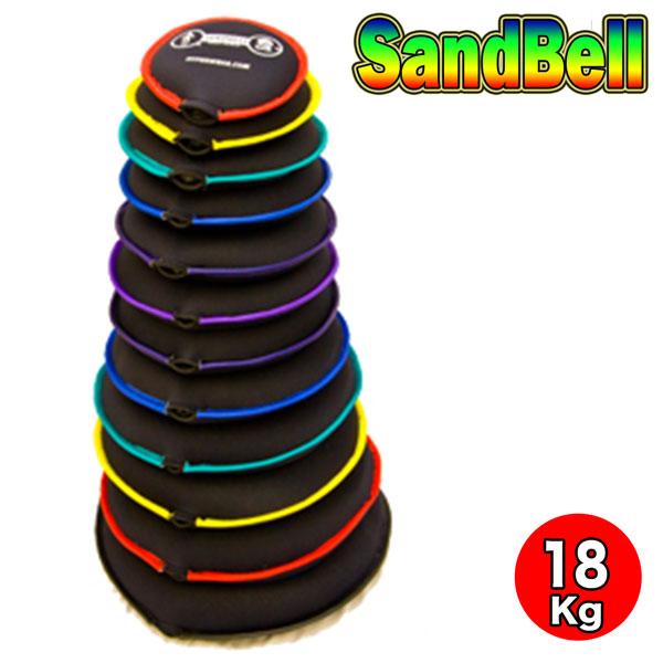 サンドベル 18kg 赤 やわらかい素材のダンベル 体幹 握力 広背筋 肩 上腕二頭筋 上腕三頭筋