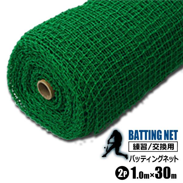 シンセイ バッティングネット 練習用 ネット 1m×30m 2本セット 野球 打撃ネット サッカー 網 練習器具 トレーニング 簡易フェンス