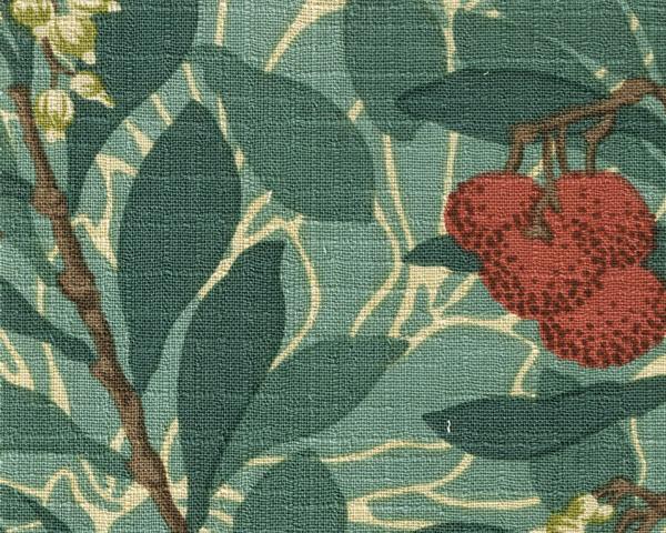 William Morrisファブリック アービュータス1 arbutus イチゴノキ【輸入ファブリック】【イギリス製】【オーダーカーテン】【1M単位カット販売可】【国内在庫品】