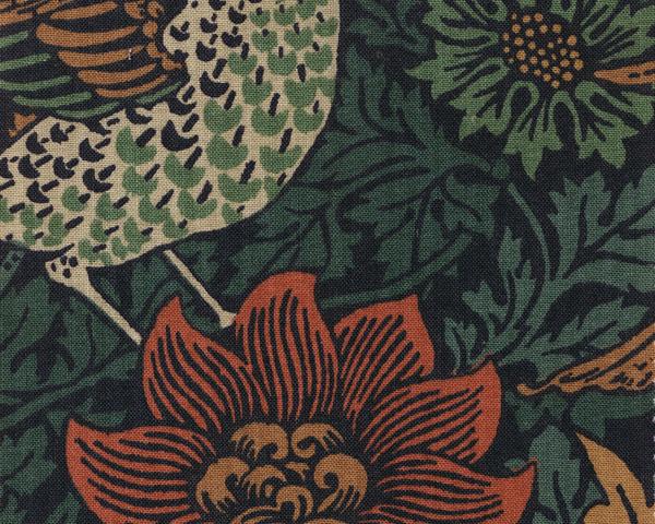 William Morrisファブリック バード アンド アネモネ bird & anemone 鳥とアネモネ【輸入ファブリック】【イギリス製】【オーダーカーテン】【1M単位カット販売可】【国内在庫品】