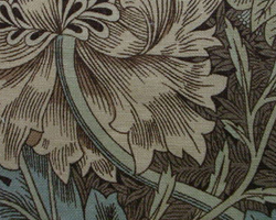 William Morrisファブリック ハニーサックル&チューリップ honeysuckle&tulipスイカズラとチューリップ【送料無料】【輸入ファブリック】【イギリス製】【オーダーカーテン】【1M単位カット販売可】【国内在庫品】