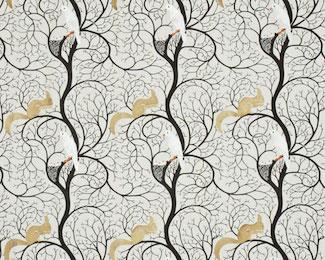 英国Snderson社ファブリック スクィレル&ドウヴ エンブリダリー squirrel & dove【輸入ファブリック】【イギリス製】【オーダーカーテン】【1M単位カット販売可】【海外在庫品】【送料無料】