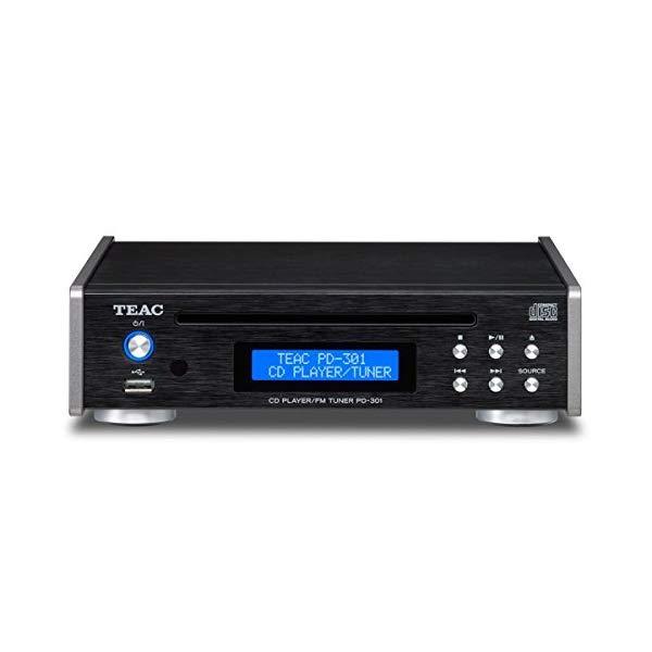 TEAC ティアック ワイドFMチューナー搭載CDプレーヤー ブラック PD-301-B 【ラッピング不可】