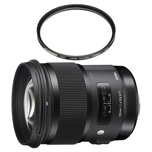 (レンズ保護フィルター付)シグマ 50mm F1.4 DG HSM ソニーEマウント用 Artライン 標準単焦点レンズ