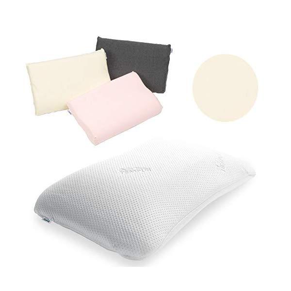 (枕&枕カバーセット) TEMPUR テンピュール シンフォニーピローL & スムースピローケース (アイボリー)