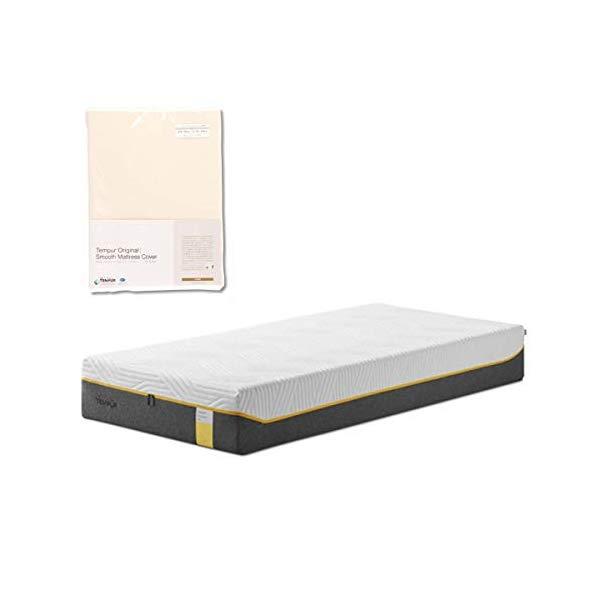 (メーカー直送)(代引不可) TEMPUR テンピュール (マットレス&カバーセット) センセーションエリート25 D & スムースマットレスカバー (アイボリー) (ラッピング不可)