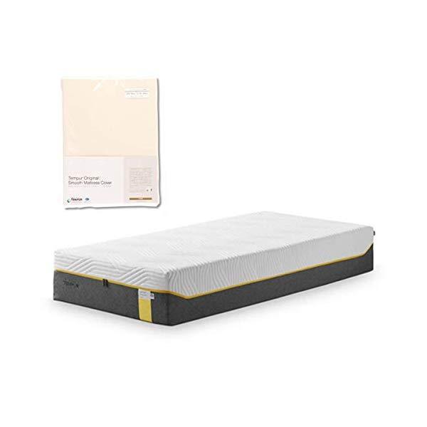 (メーカー直送)(代引不可) TEMPUR テンピュール (マットレス&カバーセット) センセーションリュクス30 SD & スムースマットレスカバー (アイボリー) (ラッピング不可)