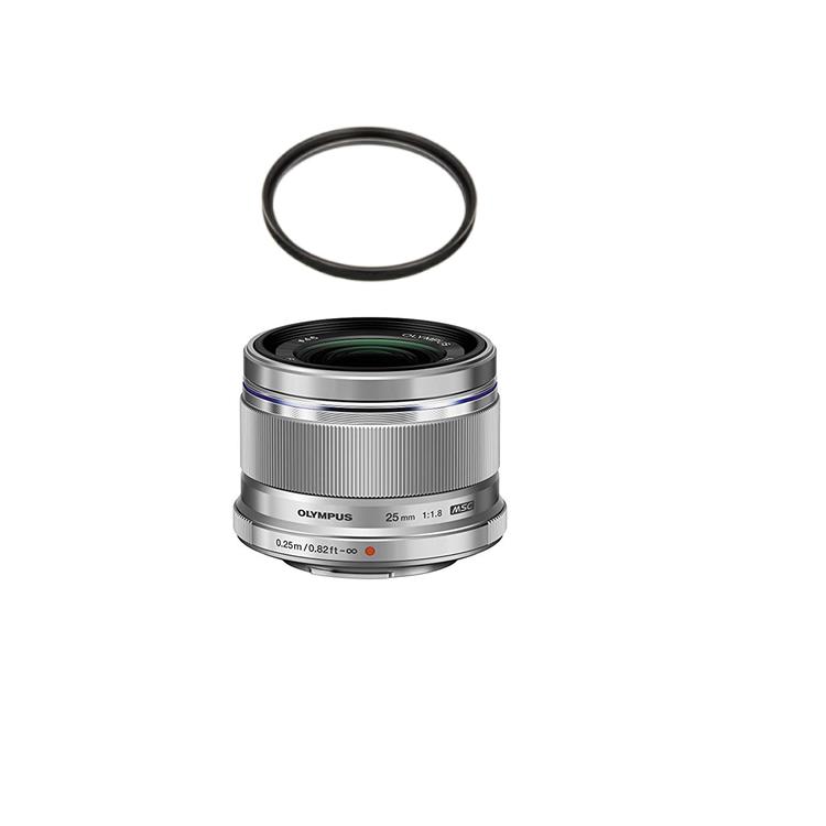 【レンズ保護フィルター付】 オリンパス 大口径標準レンズ M.ZUIKO DIGITAL 25mm F1.8 シルバー 【マイクロフォーサーズ用】
