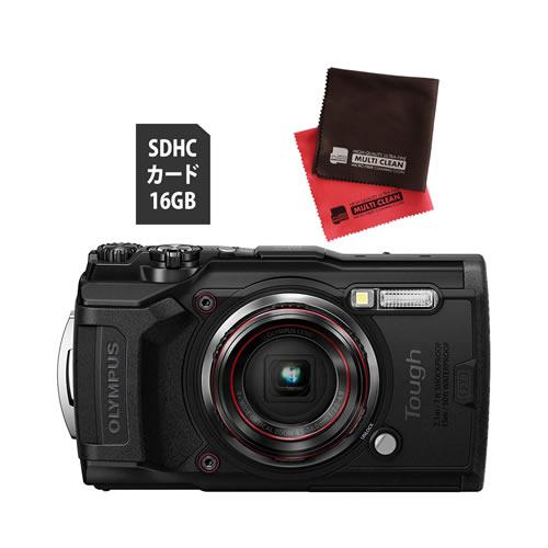 OLYMPUS オリンパス デジタルカメラ Tough TG-6 ブラック (防水 防塵 耐衝撃 GPS内蔵) (SD16GB+オリジナルクロスセット)【防水カメラ】