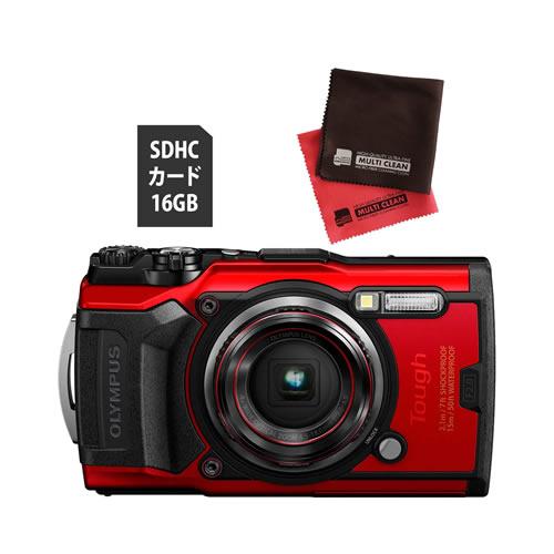 OLYMPUS オリンパス デジタルカメラ Tough TG-6 レッド (防水 防塵 耐衝撃 GPS内蔵) (SD16GB+オリジナルクロスセット)【防水カメラ】