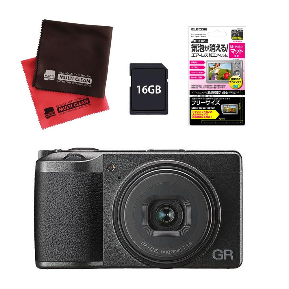 (メーカー欠品中:入荷次第の発送)(SD16GB&保護フィルムセット) RICOH リコーイメージング デジタルカメラ GRIII (GR3)