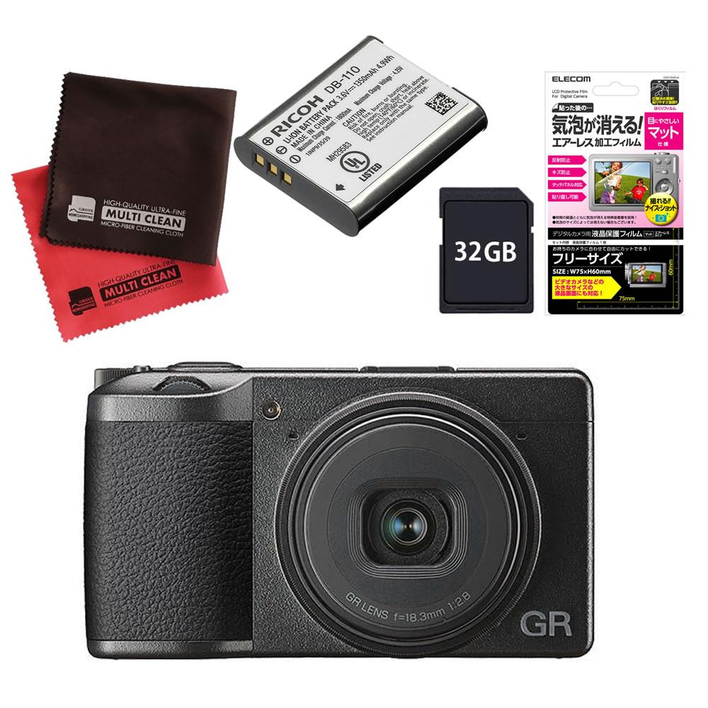 (メーカー欠品中:入荷次第の発送)(SD32GB&バッテリーセット) RICOH リコーイメージング デジタルカメラ GRIII (GR3)