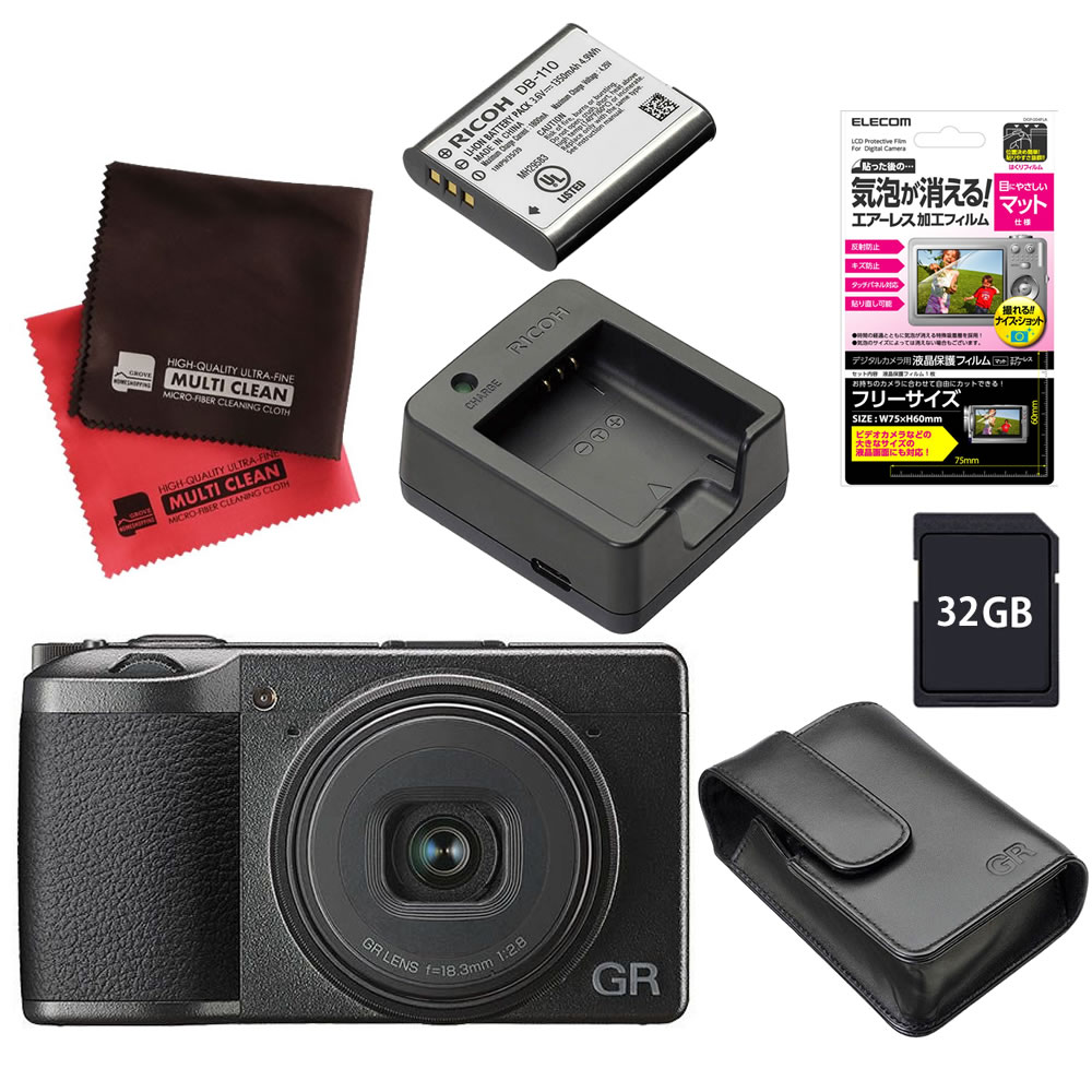 (メーカー欠品中:入荷次第の発送)(SD32GB&バッテリー&充電器セット) RICOH リコーイメージング デジタルカメラ GRIII (GR3)