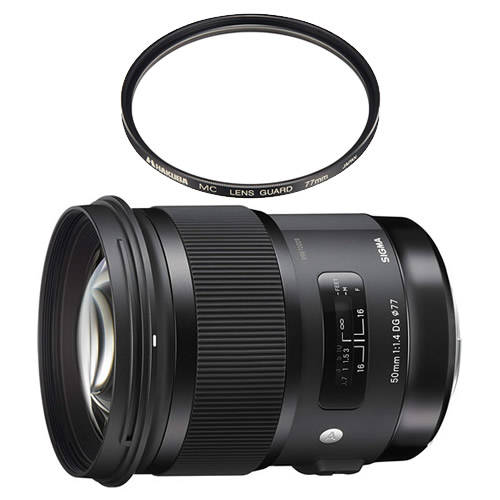 数量限定 カメラバッグプレゼント! シグマ 50mm F1.4 DG HSM ソニーAマウント用 Artライン 標準単焦点レンズ (レンズ保護フィルター付)