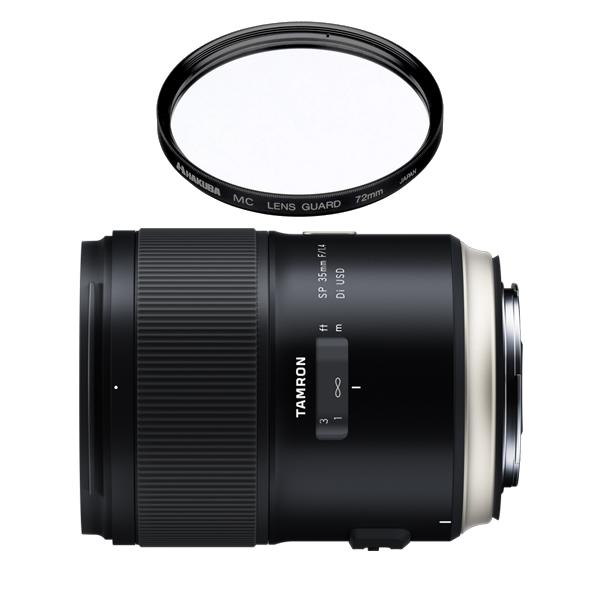 タムロン SP 35mm F/1. 4 Di US D キャノン用 F045E 単焦点レンズ (レンズフィルターセット)