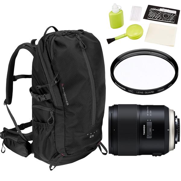 タムロン SP 35mm F/1. 4 Di US D ニコン用 F045N 単焦点レンズ (レンズフィルター・バックパックセット)