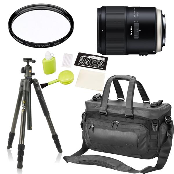 タムロン SP 35mm F/1. 4 Di US D キャノン用 F045E 単焦点レンズ (三脚・カメラバッグセット)