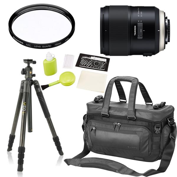 タムロン SP 35mm F/1. 4 Di US D ニコン用 F045N 単焦点レンズ (三脚・カメラバッグセット)