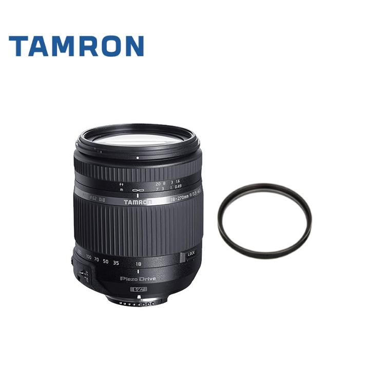 数量限定 カメラバッグプレゼント! タムロン 18-270mm F/3.5-6.3 Di II VC PZD ニコン用 B008TSN (保護フィルターセット)