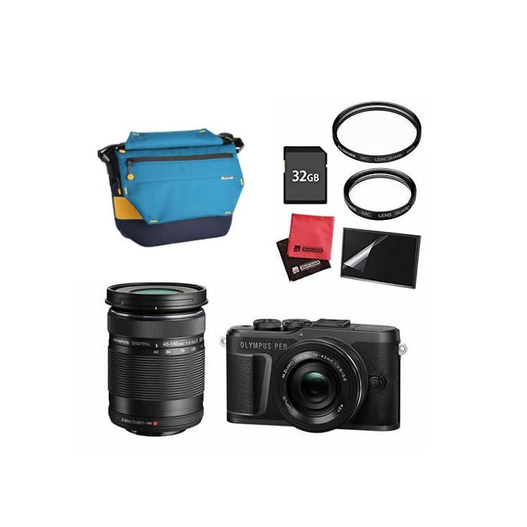 (カメラバッグ&SDカード32GBセット) オリンパス PEN E-PL10 EZダブルズームキット ブラック
