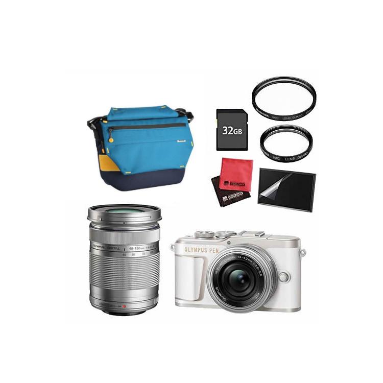 (カメラバッグ&SDカード32GBセット) オリンパス PEN E-PL10 EZダブルズームキット ホワイト