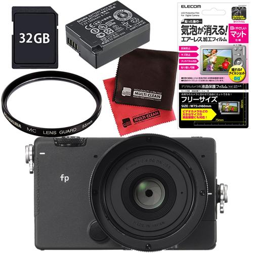 シグマ ミラーレス 一眼カメラ SIGMA fp 45mm F2.8 DG DN レンズキット 予備バッテリーセット