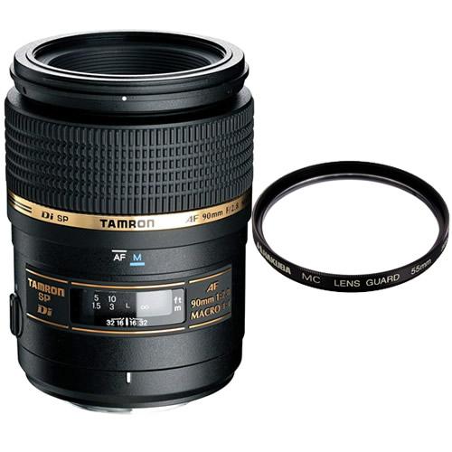 数量限定 カメラバッグプレゼント! タムロン マクロレンズ SP AF90mm F/2.8 Di MACRO1:1 ニコン用 272ENII (モーター内蔵) (レンズフィルターセット)