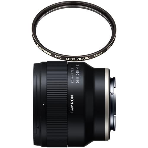 (2020年1月ごろ発売予定) 数量限定 カメラバッグプレゼント! タムロン 20mm F/2.8 Di III OSD M1:2 ソニーEマウント Model:F050SF 広角単焦点レンズ (レンズフィルターセット)