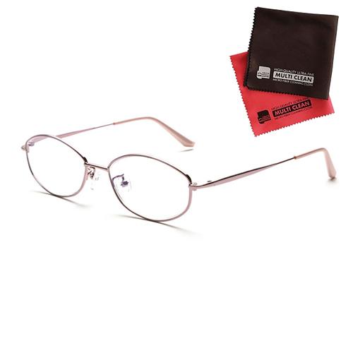 小松貿易 老眼鏡 ピントグラス PINT GLASSES 703PK (PG-703-PK) 女性用 (老眼度数:+0.60~2.50D) (クロスセット)