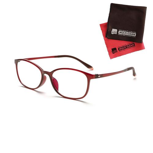 小松貿易 老眼鏡 ピントグラス PINT GLASSES 707RE (PG-707-RE) 女性用 (老眼度数:+0.60~2.50D) (クロスセット)