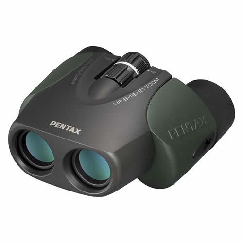 ペンタックス 双眼鏡 UP 8-16X21 ZOOM グリーン ポロプリズム 8-16倍 有効径21mm