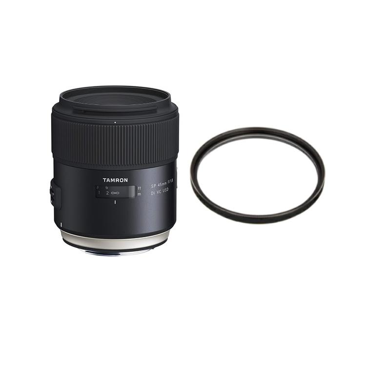 タムロン SP 45mm F/1.8 Di VC USD キヤノン用 Model:F013E (レンズ保護フィルター付)