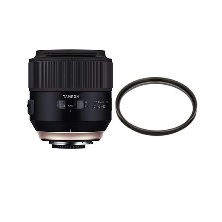 タムロン SP 85mm F/1.8 Di VC USD キヤノン用 中望遠レンズ Model:F016E (レンズ保護フィルター付)