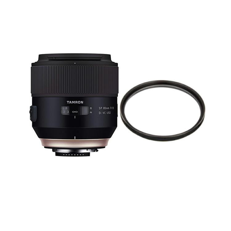 タムロン SP 85mm F/1.8 Di VC USD ニコン用 中望遠レンズ Model:F016N (レンズ保護フィルター付)