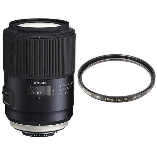 タムロン SP 90mm F/2.8 Di MACRO 1:1 VC USD ニコン用 マクロレンズ Model:F017N (レンズ保護フィルター付)