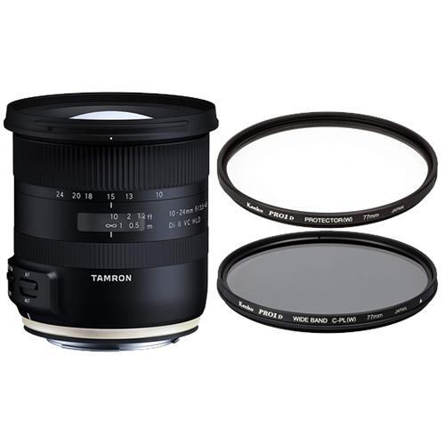 タムロン 10-24mm F/3.5-4.5 Di II VC HLD ニコン用 B023N 超広角ズームレンズ (レンズ保護フィルター&偏光フィルター)