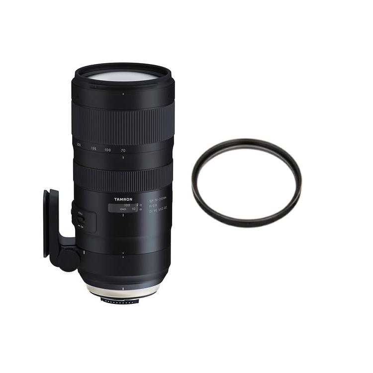 タムロン SP 70-200mm F/2.8 Di VC USD G2 キヤノン用 A025E 大口径望遠ズームレンズ (レンズフィルターセット)