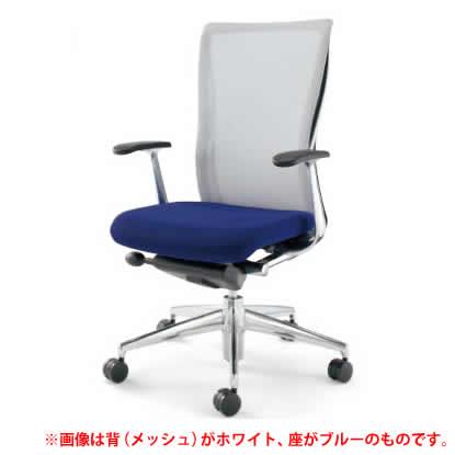 KOKUYO オフィスチェア フォスター(FOSTER) CR-G1401B6 [背面カラー:ブラック] [ヘッドレスト無し・T型肘付] 【キャスター選択式】※画像は背面がグレーですが、商品はブラックです。※背がブラックの場合、座はブラックのみ。