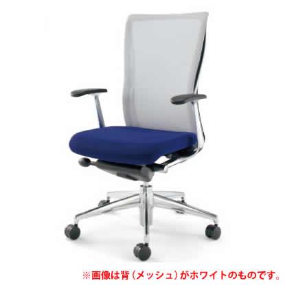 KOKUYO オフィスチェア フォスター(FOSTER) CR-G1401C5 [背面カラー:ブルーイッシュグレー] [ヘッドレスト無し・T型肘付] 【キャスター・座面カラー選択式】※画像は背面がホワイトですが、商品はブルーイッシュグレーです。