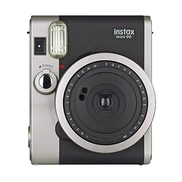 【送料無料】富士フィルム インスタントカメラ チェキ instax mini 90 NC(ネオクラシック) BK(ブラック) ※結婚式・2次会、パーティー、イベント等での撮影・景品に♪