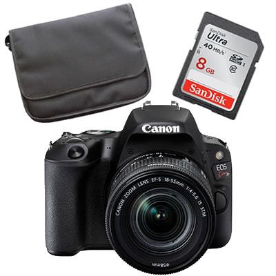 【★Canonオリジナルバック+SDHCカード8GBセット】Canon キヤノン 【デジタル一眼レフ】 EOS Kiss X9 ブラック レンズキット