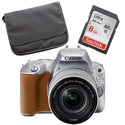 【★Canonオリジナルバック+SDHCカード8GBセット】Canon キヤノン 【デジタル一眼レフ】 EOS Kiss X9 シルバー レンズキット