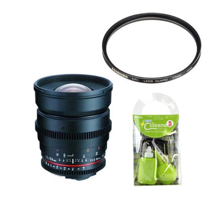 [レンズフィルター&クリーニングセット付き! ]交換レンズ サムヤン VDSLR 24mm T1.5 ニコン用