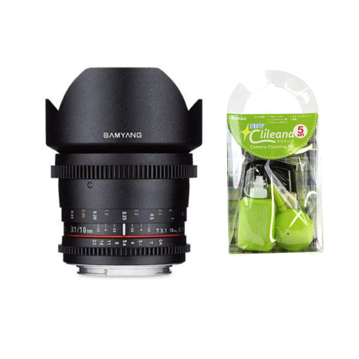 [クリーニングセット付き!]交換レンズ サムヤン VDSLR 10mm T3.1 フジX用