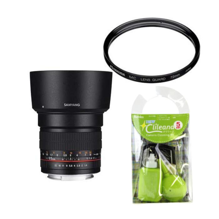 [レンズフィルター&クリーニングセット付き! ]交換レンズ サムヤン 85mm F1.4 ニコンAE用